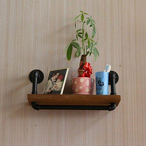 Etagère de Jardin Portemanteau Art du fer Vintage Conduite d'eau au sol Multicouche Etagère en bois massif Rayonnage de stockage Plantes en pot (taille : 25CM)