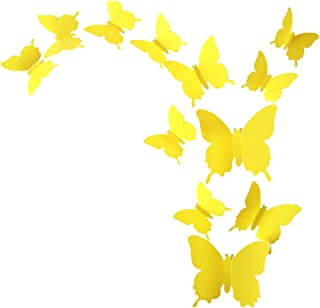 ALLICERE 12Pcs 3D Butterfly Removable Wall Decals DIY Home Decorations Art Decor Wall..