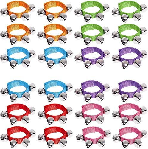 Augshy Band Wrist Bells Jingle Bells Wrist Bells Instrument Percussion Musical Party and Ankle product image