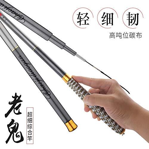 HX Canne da Pesca di Pesca Speciale Pole Mano Asta Ultraleggera in Carbonio superhard Sezione Lungo palo della Carpa Taiwan da Pesca Canna da Pesca Canna da Seme (Size : 6.3)