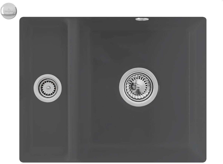 Villeroy & Boch Subway 60 XU Graphit Grau Unterbau-Becken Keramik-Spüle Küchenspüle