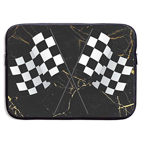 Checkered Flags Race Car Flag Pole Notebook Bags Zipper Laptop Bag 13 Inch Laptop Sleeve Case Bag Computer Bag
