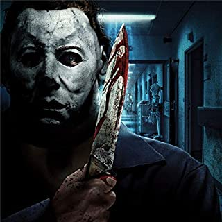 Artwu Michael Myers,USH HHN Halloween Wall Art Home Wall Decorations for Bedroom Living Room Oil Paintings Canvas Prints-939