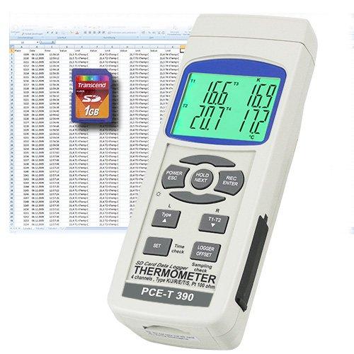 Termómetro de 4 canales PCE-T 390 - PCE Instruments