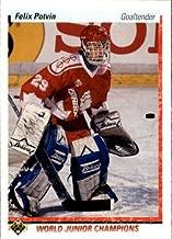 1990 Upper Deck Hockey Rookie Card (1990-91) #458 Felix Potvin