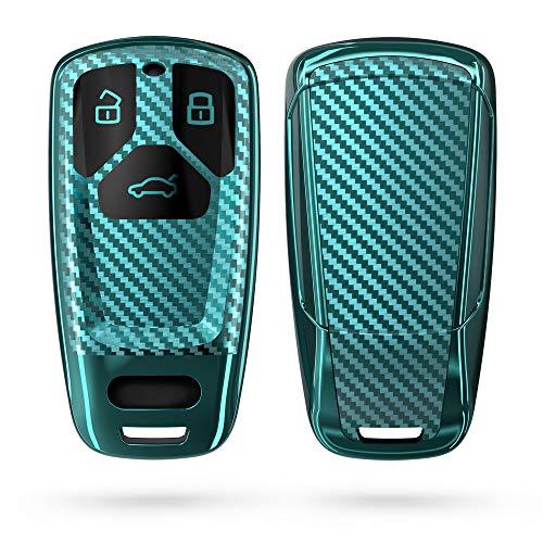 kwmobile Funda Compatible con Audi - Carcasa para Llave del Coche Audi Llave de Coche Smartkey de 3