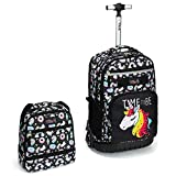 Best Backpack With Wheels - Tilami Rolling Backpack 18 inch with Lunch Bag Review