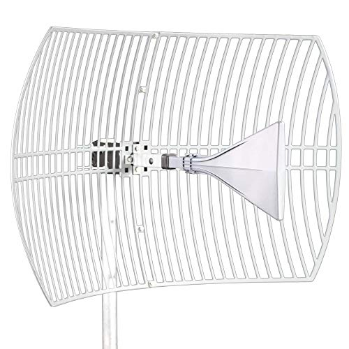 Ultra Wide-Band 2021 Model (5G Ready) Cellular Antenna (Long Range) High Gain Parabolic Grid (Weatherproof) Outdoor Cell Phone Booster (26 dBi Gain) T-Mobile, Verizon, AT&T, LTE, 3G, 4G, 5G, 5Ge, GSM
