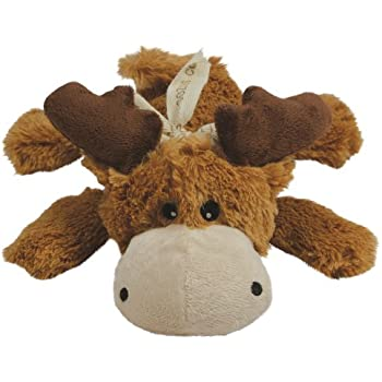 KONG Cozie Marvin Moose, Indoor Cuddle Squeaky Plush Dog Toy for Medium Dogs, Brown, 1