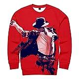 Michael Jackson Sudaderas con Capucha 3D Sudadera Hombre Mujer Sudadera De Manga Larga Ropa De Calle con Capucha Tops De Hip Hop Estampado Más Sudadera Suelta Informal para Parejas