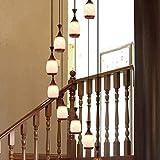Lámpara de techo Estilo Escalera Araña Dúplex Casa Villa Escalera de caracol lámpara de cristal del restaurante chino moderno largo de la lámpara