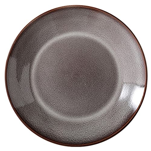 ELLENS Platos de cerámica de 10.8 Pulgadas, Plato Redondo para Comedor, Restaurante, Plato de Servir para Ensalada de bistec, Pasta, Pizza (4 Colores)
