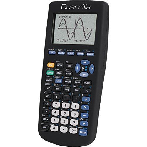 Guerrilla Silicone Case for Texas Instruments TI-83 Plus Graphing Calculator, Black