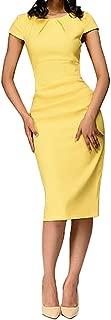 Summer 2019 Dress for Women, Rambling Dress Short Sleeve Office Dress in a Business Style Elegant Sheath Evening Dresses