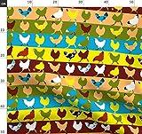Hühner, Pop Art, Pop Art Hühner, Geflügel, Bauernhof,