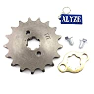 XLYZE 428 17 Tooth 17mm Front Engine Sprocket Gear for 50cc 70cc 90cc 110cc 125cc 140cc 150cc 160cc ...
