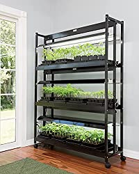 SunLite Gardens LED Grow Light Shelves