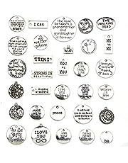 100 قطعة سحر المعلقات بالجملة التبت العتيقة الذهب الفضة سحر المعلقات مختلطة DIY للأسوار قلادة صنع المجوهرات والحرفية