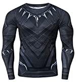 Red Plume Men's 3D Printed Compression Long Sleeve T Shirts Top Tees (Green Lantern, M)