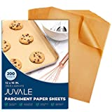 Juvale Precut Parchment Paper for Baking, Unbleached Brown (12 x 16 in, 200 Sheets)