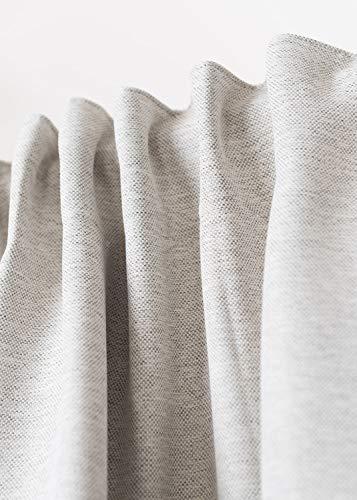 Rollmayer Vorhang mit Tunnelband MELO (C2 Milchkaffee, 140x240 BxH). Blickdicht Gardinen für Schlafzimmer, Kinderzimmer, Wohnzimmer