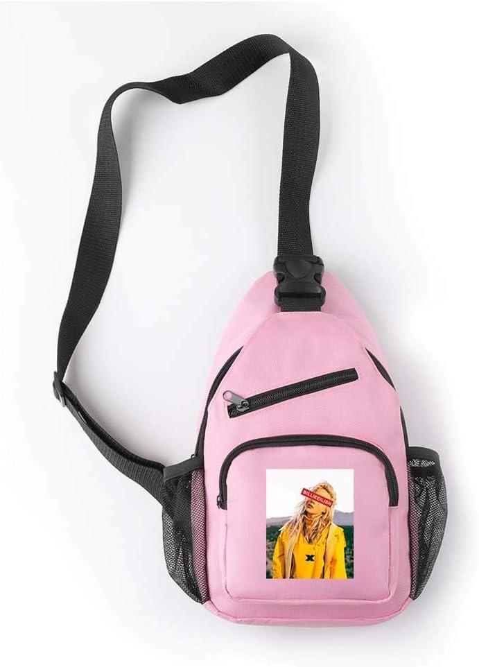 LJXJ Billie Eilish Umh/ängetasche Umh/ängetasche Einfacher Rucksack Einzelne Umh/ängetasche Tragbare Geldb/örse Reisetasche