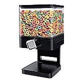 Dispensador de cereales cuadrado de almacenamiento de cereales cuadrado de plástico transparente hermético para cereales de 7,4 l para mantener la comida fresca