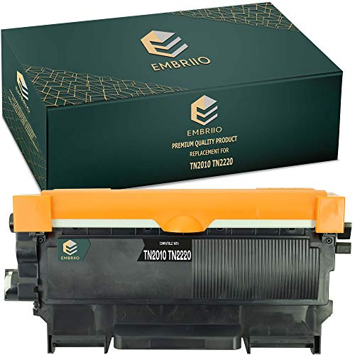 EMBRIIO TN-2010 TN-2220 Kompatibel Toner Ersatz für Brother HL-2250DN HL-2130 DCP-1610W HL-2270DW MFC-7360N HL-2135W DCP-7055W HL-2240 MFC-7860DW DCP-7065DN HL-2240D FAX-2840 DCP-7070DW DCP-7060D