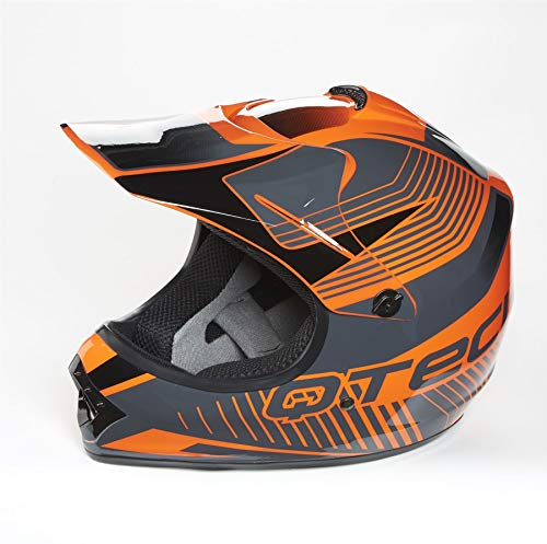 XS Qtech Childrens KIDS MOTOCROSS MX Style Helmet BMX Quad Bike Q101 Pink