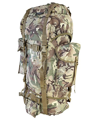 Kombat Army Military Rucksack Hiking Camping Bag Combat Cadet Backpack Travel 60L New BTP `All Terrain Camo'