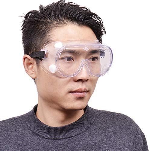 Veiligheidsbril Een stof- en beslagvrije veiligheidsbril voor gebruik in spatwaterdichte laboratoria.