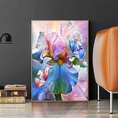 DIY Diamant Painting Bilder Voll Kits für Erwachsene Kinder Beautiful Flowers 5D Diamond Painting Full Set Kristall Strass Stickerei Kreuzstich für Home Wall Decor -Square Drill,15.7x19.6inch/40x50cm