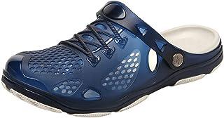 Sunenjoy Chaussures Sabots Plastique Plage Homme de Jardin Été Pantoufles Anti-Glissement Sandales Mules Respirant Pantouf...