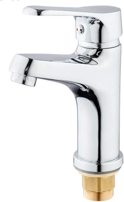 Bath Faucet Bathroom Cabinet Faucet Hot and Cold Single Hole Basin Copper Wash Basin Basin Bathroom Faucet