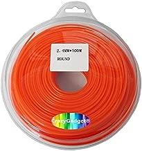 CrazyGadget® 100m Trimmer Strimmer Cord Line Nylon Round String Wire Garden Hedge Hand Grass Strimmer Refill 24mm x 100 Metre by CrazyGadget