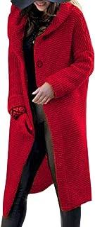 Onsoyours Cárdigan para Mujer Otoño Invierno Cálido Sudaderas con Capucha Elegantes Tallas Grandes Chaqueta Larga Tops Out...