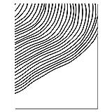JXMK Línea de Pintura de Lienzo Abstracta Minimalista Arte Abstracto Cartel de Arte de Pared Moderno Pintura Decorativa en Blanco y Negro 30x40 cm sin Marco