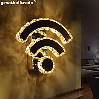 Creative WiFi Wall lamp LED Bedroom Bedside lamp Hotel Dining Room Wall lamp Staircase Hallway lamp Crystal lamp (Warm)