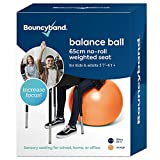 Balance Ball - No-Roll Weighted Seat is a Flexible Chair for School, Office or Home(Large, Orange)