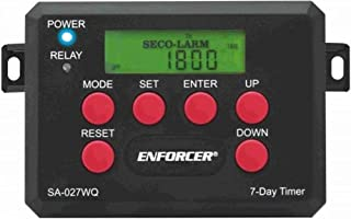 Seco-Larm SA-027WQ 7-Day Module Timer, Up to 60 Programmable Events, Holiday Function (Up to 99 Days), Easy-to-read Backlit LCD, 12 or 24-Hour Clock Format, 12~24 VAC/VDC Operation