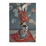 Vwmyq 300 Piece Wooden Puzzle Jigsaw Puzzle for Teens & Adults Christmas Camille Monet in Japanese Costume, 1876 - Oscar Claude Monet