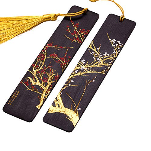 High-End Mahogany Antique Bookmarks, Exquisite Tassel Gift Bookmarks, Chinese Style Carved Bookmarks.
