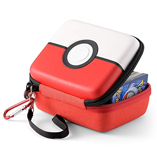 tombert Carrying case for Pokemon Trading Cards, Hard-Shell Storage Box fits Yugioh, Magic MTG Cars and Pokemon, Holds 400+ Cards