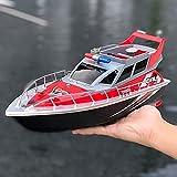 WANIYA1 Barco de Control Remoto 2.4GHz RC Boat for Pools and Lakes Kids Toy RC Rac Racing Boat con la característica de autocutabilidad RC Speedboat para niños Boys RC Regalo de Juguete