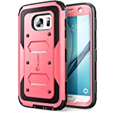 i-Blason Case Designed for Galaxy S7, Armorbox Series Built-in Screen Protector Full body Heavy Duty Protection Shock Reduction Bumper Case for Samsung Galaxy S7 2016 Release (Pink)