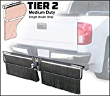 Towtector Tier 2 Mud Flap 27822-T2 Medium Duty Single Brush Strip - 78' Wide 22' Tall for 2' Hitch Receiver (Wall Mount Bracket NOT Included)