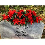 Poinsettia-Cemetery-Decoration-Christmas-Headstone-Decoration-Grave-Decoration-Grave-Blanket-Christmas-Gravesite-Flowers