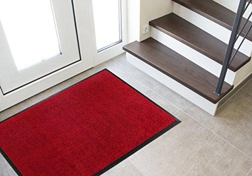 Andiamo Deurmat voor binnen en buiten, vuilvangmat modern 90x150 cm rood