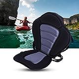 Asiento de kayak respaldo de barco acolchado ajustable desmontable asiento kayak pesca para barco canoa bote
