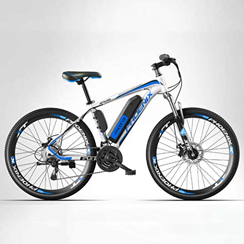 ZTYD Electric Bike, 26' Mountain Bike for Adult, All Terrain 27-Speed Bicycles, 50KM Pure Battery Mileage Detachable Lithium Ion Battery, Smart Mountain Ebike for Adult,35km/70km,Electric/Hybrid